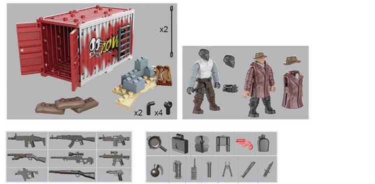 1:36 escala moderna militar nieve leopardo Commando figuras de acción mega edificio bloques contenedores armas ladrillos juguetes para niños regalos