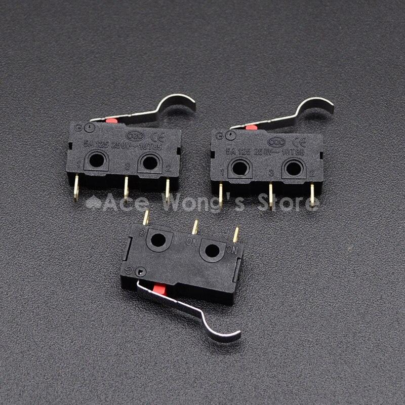 10 шт. концевой выключатель, 3 Булавки N/O n/c высокое качество все новые 5A 125vac микро-переключатель Короткие