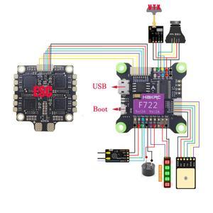 Image 2 - Hakrc F722 Vlucht Controle Geïntegreerde 5V 9V Dual Bec Ingebouwde Osd Controller 3 9S Voor Rc racer Drone Fpv Quadcopter Diy Vliegtuigen