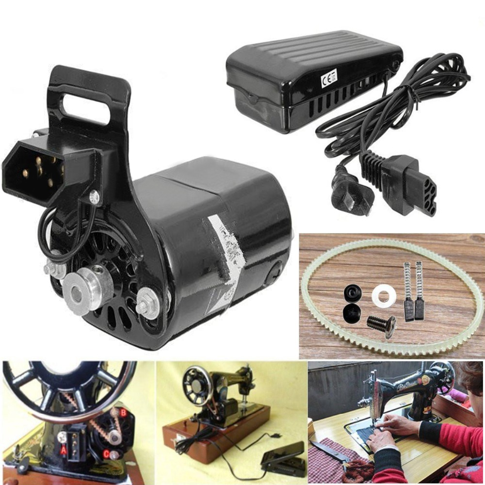 0.9 Amps 180W Domestic Household Sewing Machine Motor 220V 8000 RPM With Foot Pedal Controller Speed Pedal