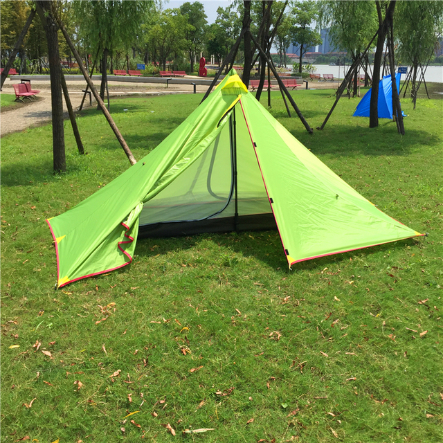 Ultralight Pyramid Backpacking Tent 2-3 Person Waterproof C&ing Tent CZX-129 & Ultralight Pyramid Backpacking Tent 2 3 Person Waterproof Camping ...