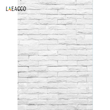 Laeacco Gray White Brick Wall Party Portrait Stage Photography Backgrounds Customized Photographic Backdrops For Photo Studio