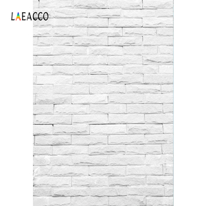 Image 2 - Laeacco Photophone For Food White Brick Wall Vintage Baby Portrait Photography Backdrops Photo Backgrounds Birthday Photocall