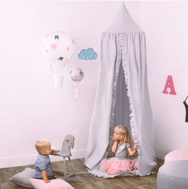 Ins 3D Ruffle Flower Kids Canopy Princess Bed Baby Bassinet Canopy Beds Kids Bedroom Mosquito Net Girl Room Decor 240cm & Ins 3D Ruffle Flower Kids Canopy Princess Bed Baby Bassinet Canopy ...