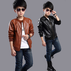 Image 5 - Brand Fashion Winter Child Coat Waterproof Heavyweight Baby Girls Boys Leather Jackets Children Outerwear Kids Outfits For 90 165cm