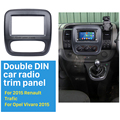 2 Din car radio Fascia para 2015 Up Renault Trafic Opel Vivaro DVD Panel Dashboard Dash auto Kit de instalación de estéreo Panel