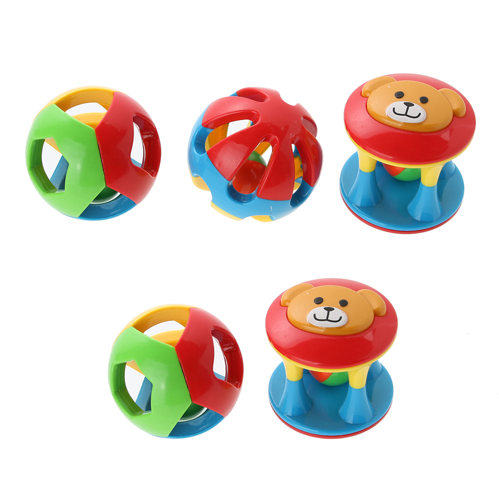 schachtel Baby Kleinkind Spielzeug Rassel Handschütteln Glocke Lernspielzeug 4 teile