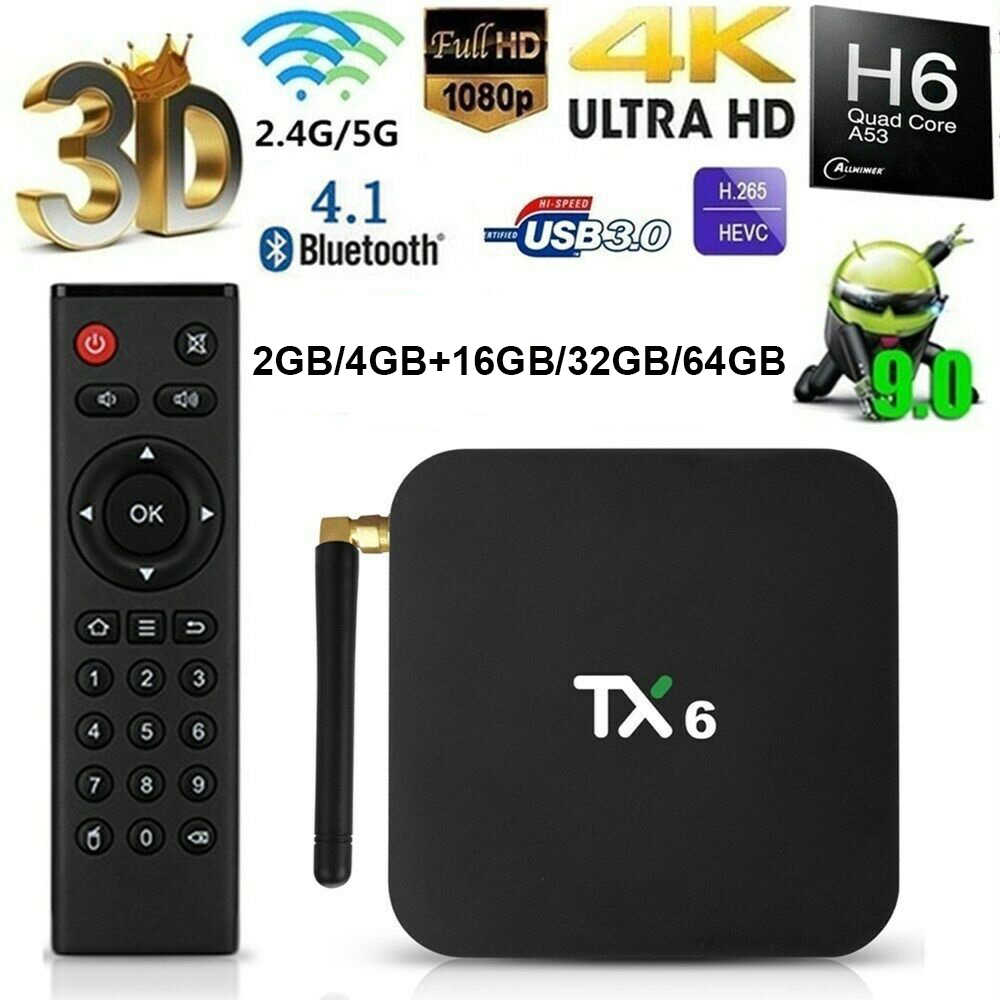 TX6 Thông Minh Tv BOX IPTV TV Box android 9.0 Allwinner H6 4 GB DDR3 32 GB/64 GB EMMC 2.4 GHz 5 GHz WiFi BT4.1 HD 4 K H.265 IPTV Set top