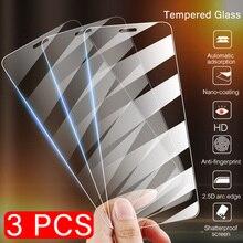 화웨이 명예 9 8 10 라이트 스크린 프로텍터 명예 7a 7c 프로 ru 8c 8x 최대 보호 유리에 대한 3 pcs 전체 커버 강화 유리
