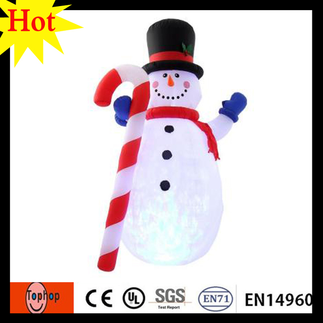 Holiday Time Christmas Lights.Us 872 1 5 Off High 6m 19 6ft Inflatable Snowman With Holiday Time Christmas Lights Decoration Supplier With Candy Stick 420d Oxford In Inflatable