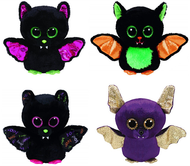 Ty Beanie Boos Halloween Bat Igor Beastie Count Dart Plush Toy 15cm 6    Cute Big Eyes Stuffed Animal Baby Kids Toys for Children 58f54b8324a