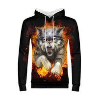 Wolf 3D Printed Hoodies Men Sweatshirts Jacket Pullover Tracksuits Street Wear Out Coat Harajuku Long Sleeve Hoody Jacket