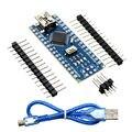 Funduino Nano 3.0 Controlador Compatível Atmega328 Board para Arduino Nano PCB Módulo Conselho de Desenvolvimento com USB