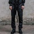 Nueva Llegada Mens Inglaterra Estilo Punky Gótico Pantalones de Poliéster Moda Hebillas de Hip Hop Pantalones Pantalones Largos Ocasionales de Sexo Masculino