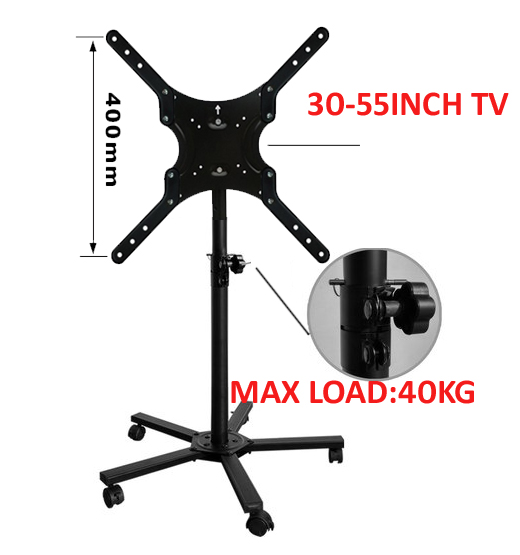 30inch 32inch 37inch movable swivel LCD PLASMA tv floor brac