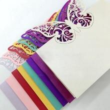 100 шт/партия открытки с бабочками Свадебная вечеринка Стол Вино еда гость карточки с именем милое украшение карты карточка с именем и местом