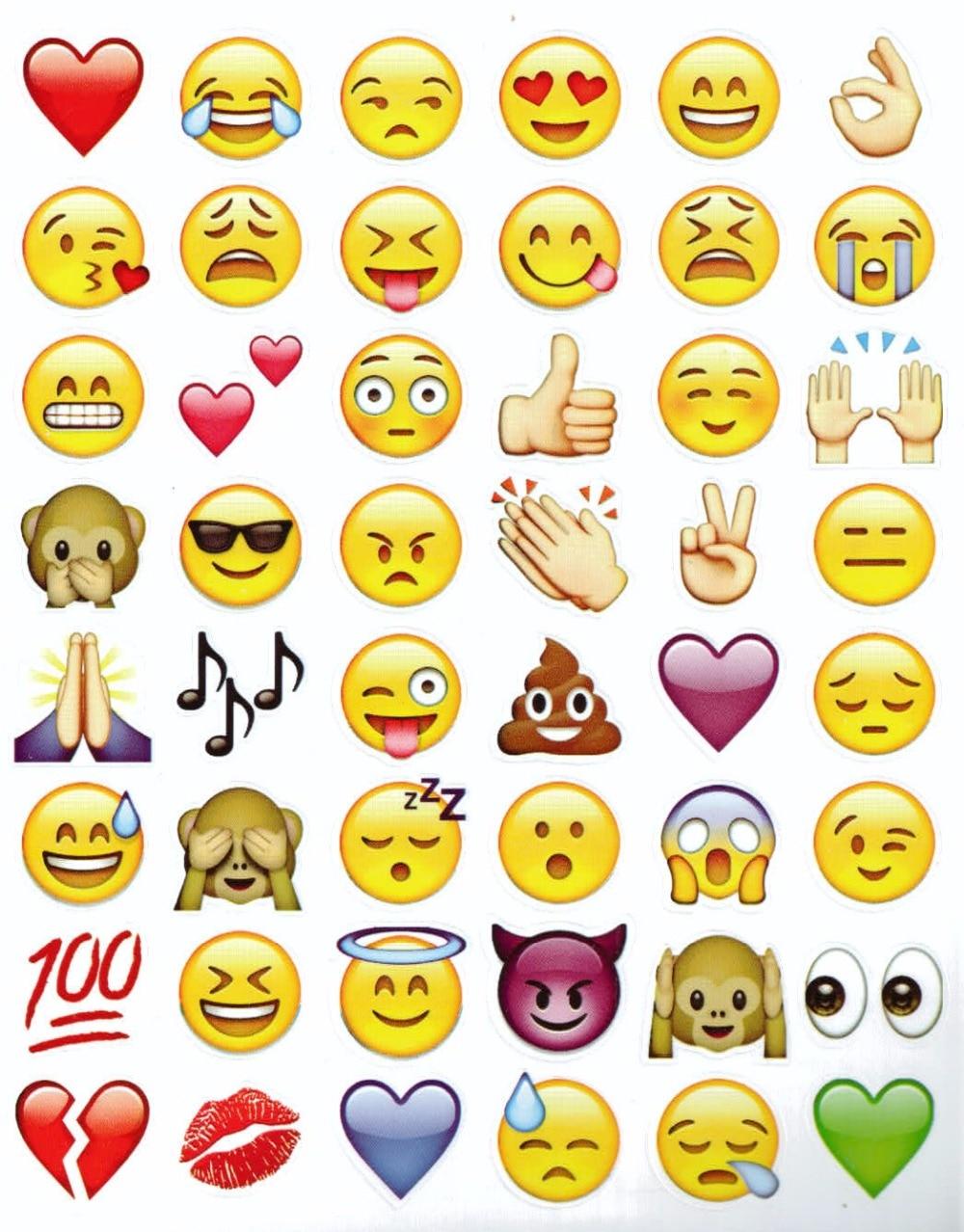 Aparador Azul Turquesa Mdf ~ 4 PC Fun bonito adesivo 192 de corte de Emoji Emoji sorriso adesivo de vinil para iPhone Laptop