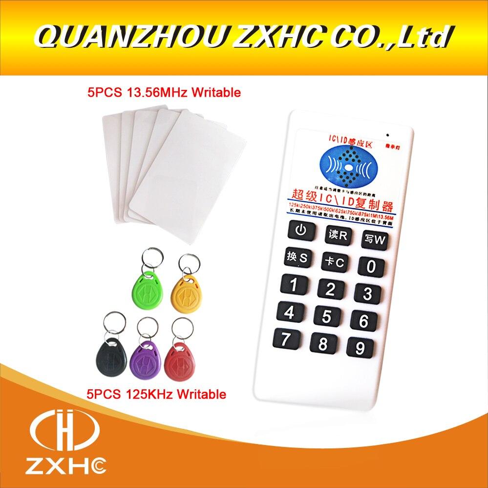 Nouveau RFID 125 khz ID 13.56 mhz IC Copieur Lecteur Écrivain pour EM4305 T5577 UID Modifiable Tag
