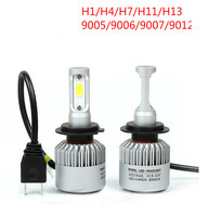 1pair H1 H4 H7 H11 H13 9005 9006 9007 9012 Car LED Headlight Kit 6000K 12V