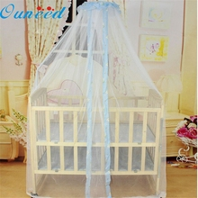 hot sale 2017 Summer Baby Bed Mosquito Mesh Dome Curtain Net for Toddler Crib Cot Canopy #0818 B(China)