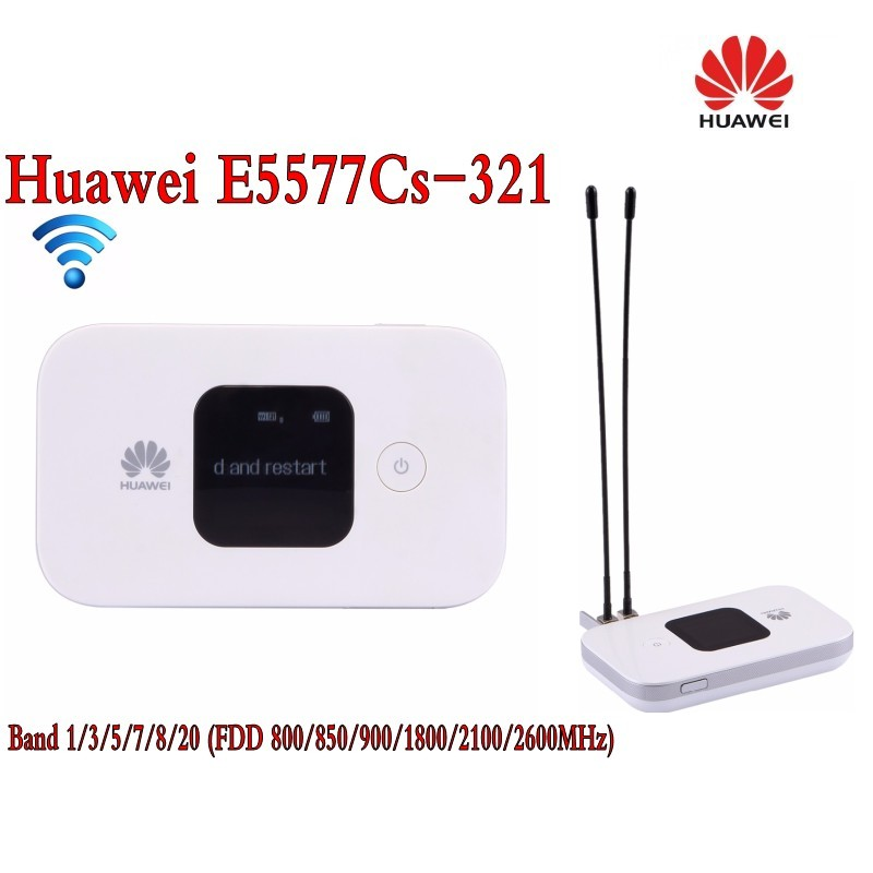 Original Unlock 4G Wireless Router LTE Mobile WiFi Router with SIM Card Slot Huawei E5577Cs-321+2Pcs 4g antenna