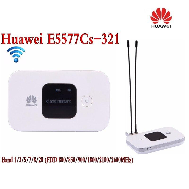 Original Unlock 4G Wireless Router LTE Mobile WiFi Router with SIM Card Slot Huawei E5577Cs-321+2Pcs 4g antenna