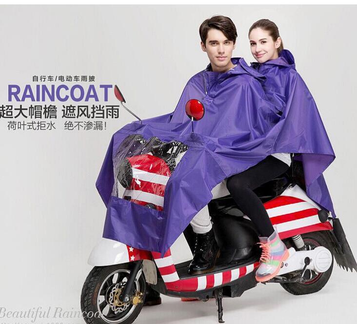 15sets wholesale 2017 new Electric double coat lengthened thickening Motorcycle raincoat cycling poncho raincoats
