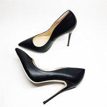Модные женские пикантные Вечерние туфли на высоком тонком каблуке; женские туфли-лодочки с острым носком на каблуке