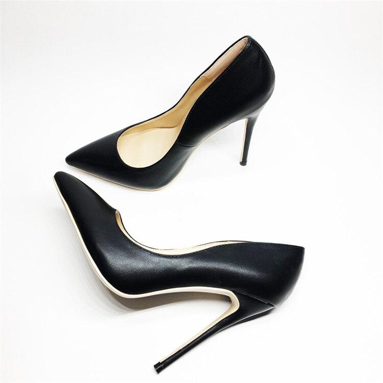 Mode femmes minces talons hauts chaussures de fête sexy bout pointu talons femmes pompes