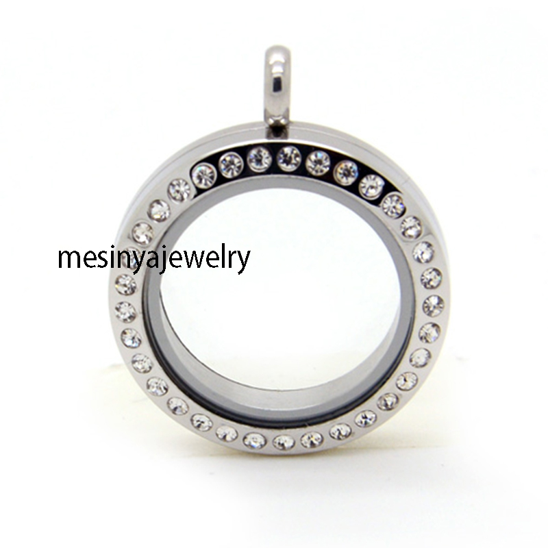 10pcs 25mm Screw Closure Stainless Steel Glass Locket For Custom Floating Charms Keepsake Xmas Gift Mother