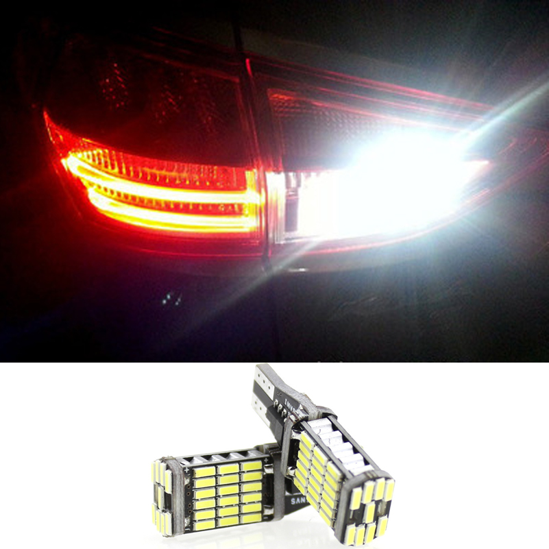 2pcs Canbus T15 921 15W 4014 SMD W16W 45 LED Auto Car Backup Light - Car Lights - Photo 1
