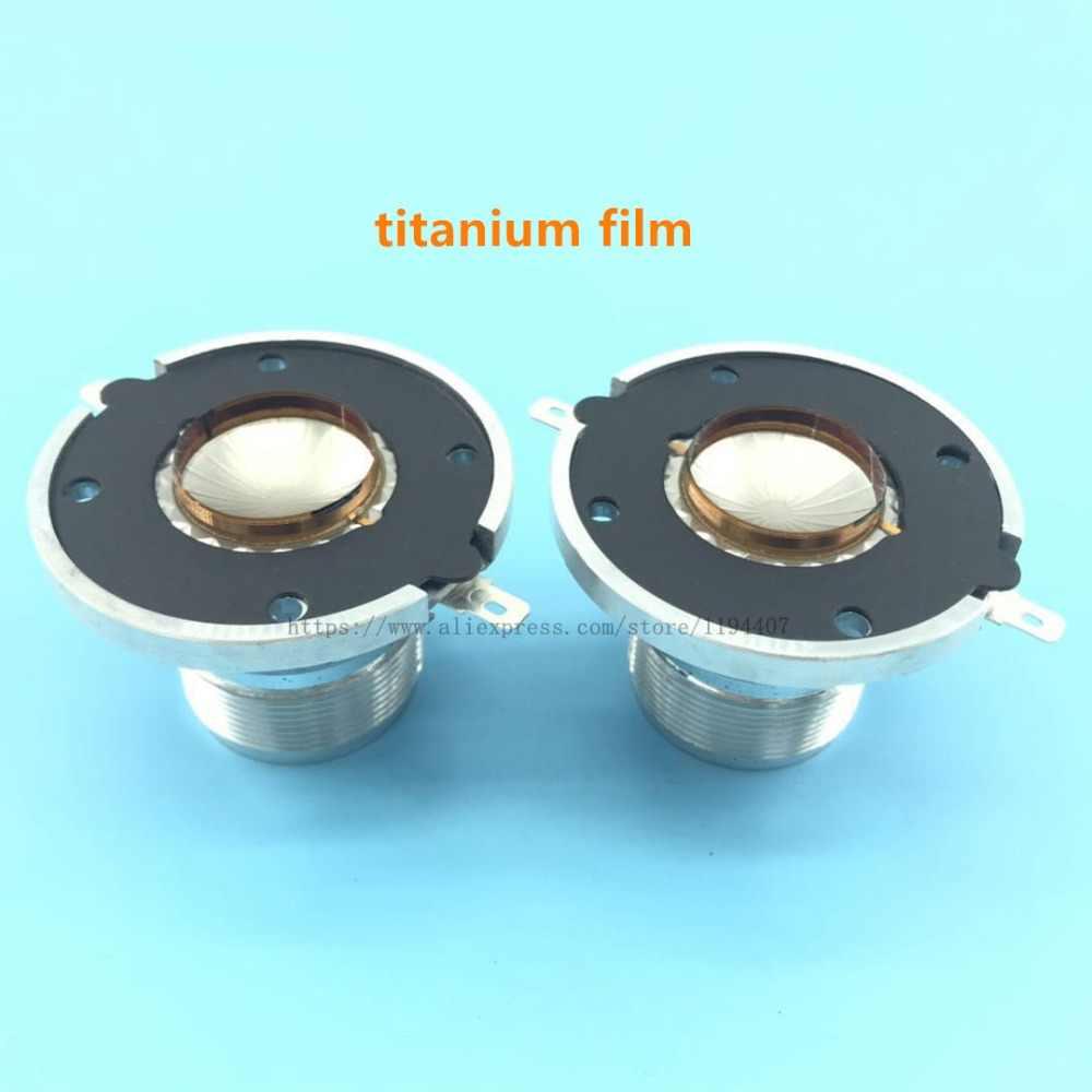 Bobine vocale de Tweeter de dôme de diaphragme de 2 pièces pour JBL 2414 H/2414H-1/2414H-C remplacent le film titanique de bobine de voix