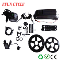 Free shipping 8FUN/Bafang BBS02B 36V 500W mid drive motor kits with 36V 10Ah USB down tube battery for fat tire bike/city bike