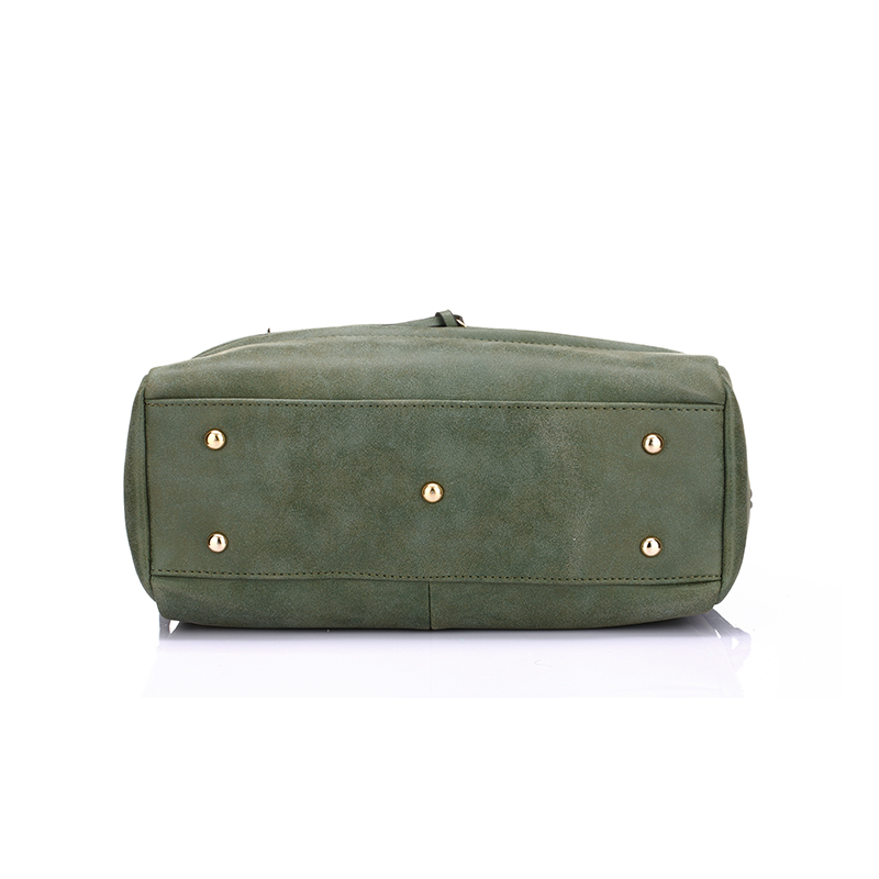 Army Green Women Shoulder Bags Famous Brand 2016 Motorcycle Nubuck Matte  Bags Handbags Women Famous Brands PU Leather Shopping-in Shoulder Bags from  Luggage ... e2c9a6de2b0fb