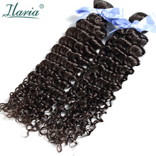 ILARIA HAIR 7A Malaysian Curly Hair 2 Bundles 100% Curly Human Hair Weaves Virgin Hair Extensions Natural Color Top Quality(China)