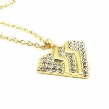 New Bon Jovi rock band pendant necklace rhinestones heart long chain men women necklaces pendants for friends