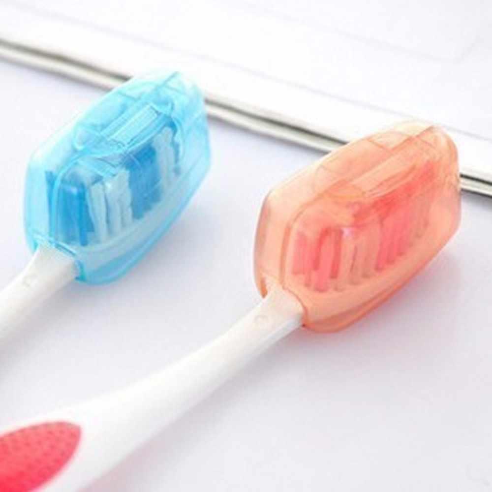 * 5 قطعة مجموعة المحمولة السفر فرشاة الأسنان غطاء صندوق صغير فرشاة غسيل صناديق غطاء 0.35