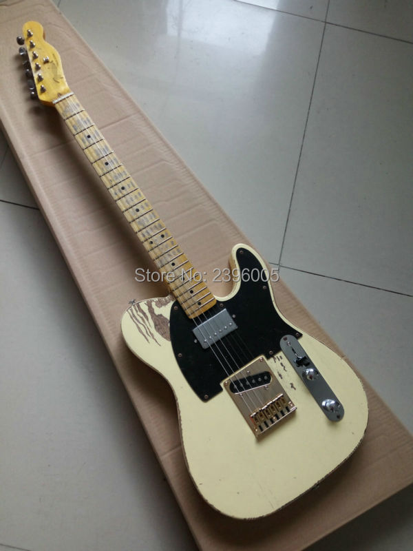 Custom Shop 52 tele electric <font><b>guitar</b></font> exclusive pickups Korea golden bridge hand-made relic high quality support custom by pic image