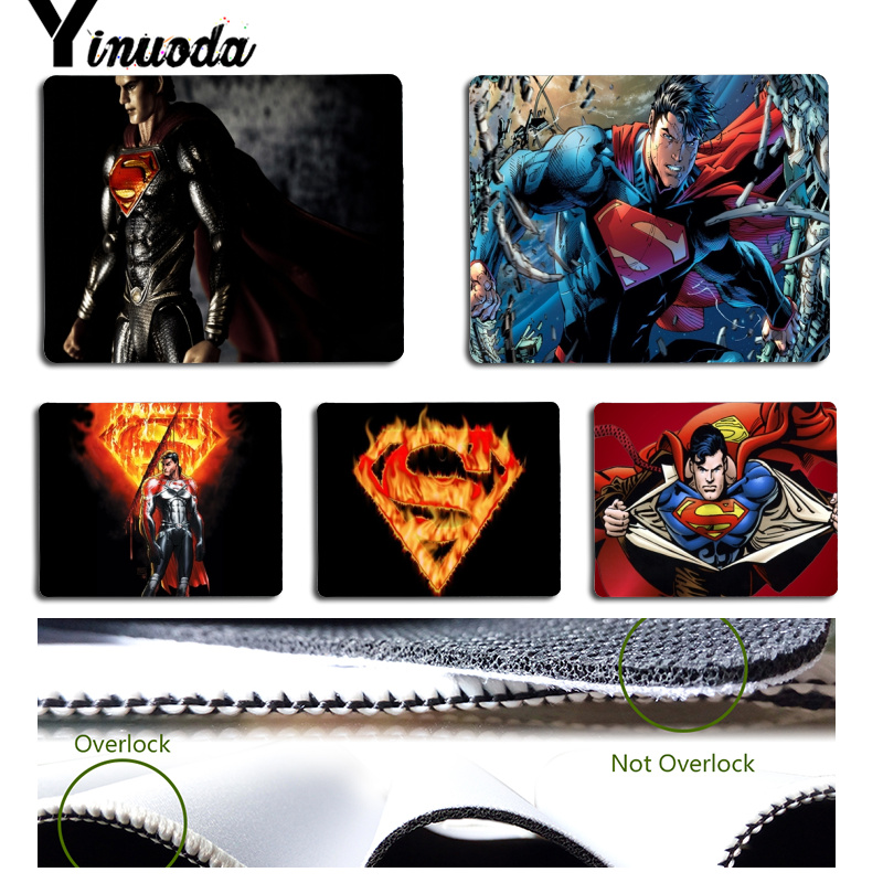 Yinuoda Superman And Superman Logo Customized Laptop Gaming Mouse Pad Size For 18x22x0.2cm Gaming Mousepads