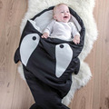 New shark sleeping bag Newborns sleeping bag Winter Strollers Bed Swaddle Blanket Wrap cute Bedding baby sleeping bag BaBy