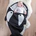 Novo tubarão Carrinhos de saco de dormir de Inverno saco de dormir Recém-nascidos Cama Swaddle Cobertor Envoltório bonito Fundamento do bebê saco de dormir Do Bebê