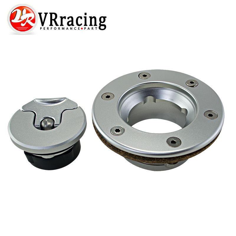 VR RACING - Aluminum Billet Fuel Cell / Fuel Surge Tank Cap Flush Mount 6 bolt Mirror Polished Opening ID 35.5mm VR-SLYXG01
