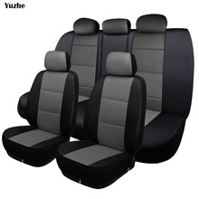 Yuzhe Universal auto Leather Car seat cover For Audi A6L Q3 Q5 Q7 S4 A5 A1 A2 A3 A4 B6 b8 B7 A6 c5 automobiles car accessories 2 pcs car seat covers for audi a6l q3 q5 q7 s4 a5 a1 a2 a3 a4 b6 b8 b7 a6 c5 c6 a7 a8 car accessories styling