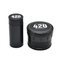 1XHigh Quality It S Always 420 Aluminum 4 Layers Dia 63mm Spice Crusher Herb Grinder With