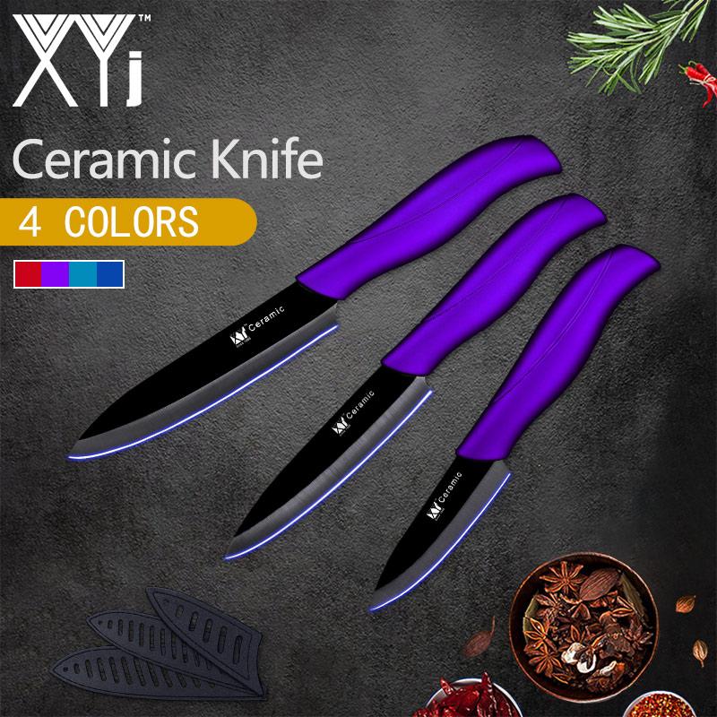 XYj Ceramic Knife Kitchen Knife Set New Arrival 2018 Light Weight Kitchen Ceramic Knife Set 3