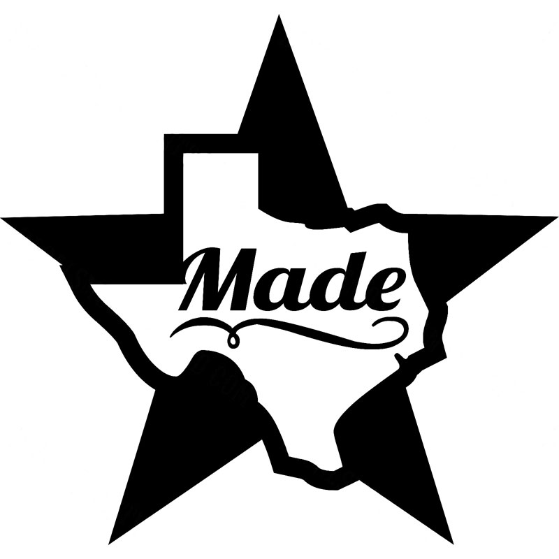 14 6cm 14cm Texas Made Pride Decal Sticker Die Cut Vinyl