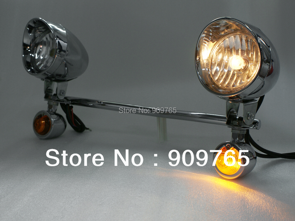 For Suzuki Honda Amber Driving Turn Signal Lamp Passing Lights Bar VL VS VTX Yamaha V Star VStar XVS XV 650 1100 1300 SpotLight стоимость