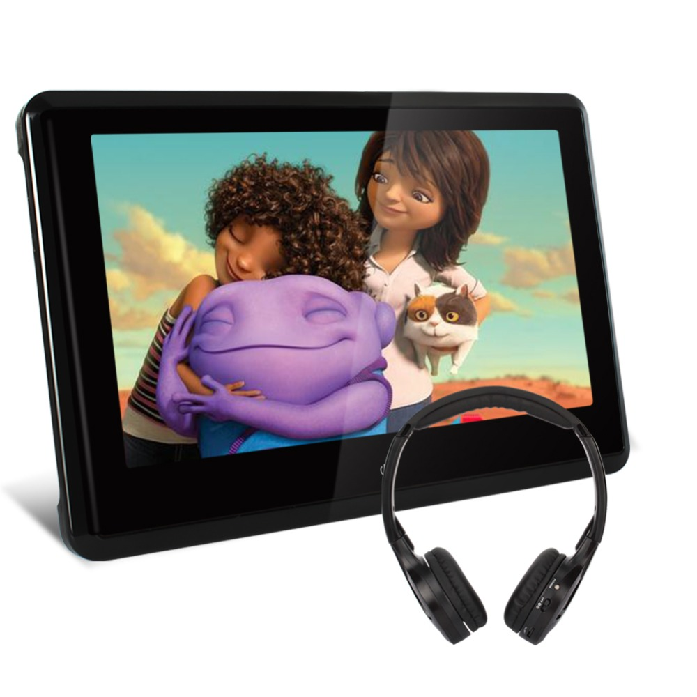 10 1 inchTFT HD Touch Screen 1024 600 Pumpkin Car Headrest DVD Monitor Player HDMI Port