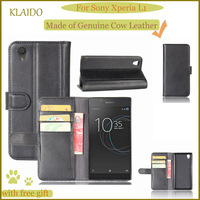 KLAIDO Genuine Leather Mobile Phone Case For Sony Xperia L1 Phone Case Wallet Case For Xperia
