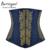 Burvogue mujeres bordado gótico steampunk corsé huesos de acero del corsé de underbust del satén de la cintura de control cincher corselet